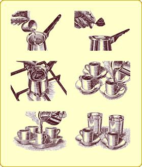 варим кофе в турке в картинках